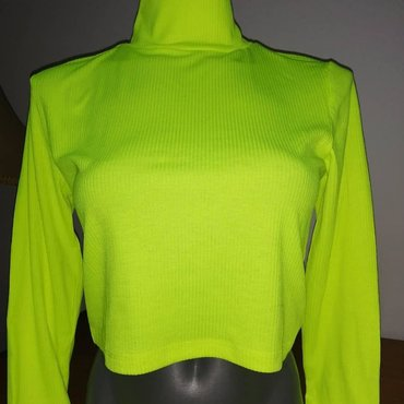 Neon crop top rolkice