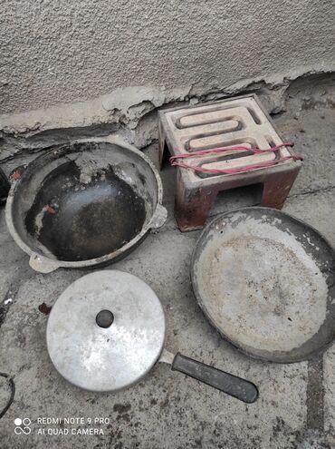 плита спиральная в Кыргызстан: Продаю всё что на фото, недорого. Казан маленький, плитка спиральная