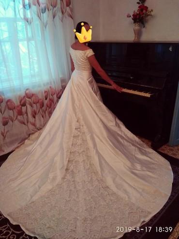 Свадебные платья - Кок-Ой: Срочно продаю шикарное Турецкое свадебное платье, качество отличное