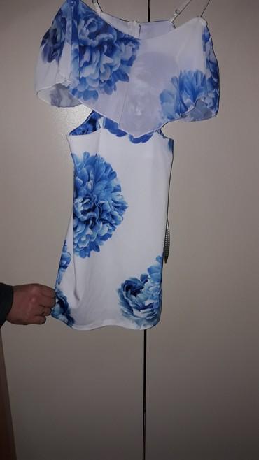 Haljine   Lebane: Prelepa cvetna haljina, obucena jednom