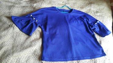 трикотажная рубашка в Кыргызстан: Кофточка трикотажная на 46.48 размеры номила пару раз, цвет электрик