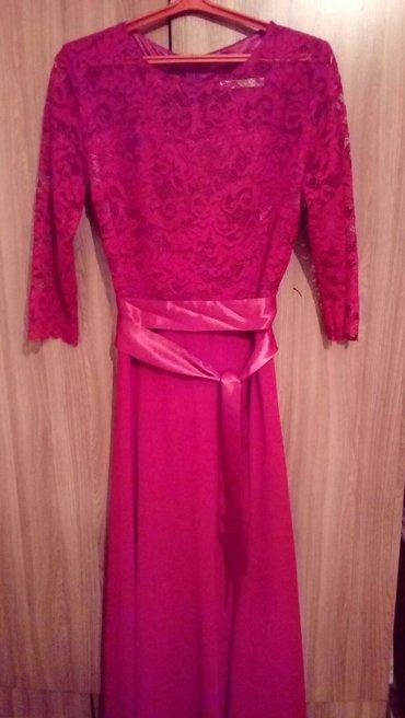 Вечернее платье размер 48/50 цвет вишни в Бишкек