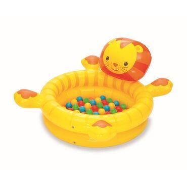 Сухой бассейн с мячами «Лев», 111x98x61,5смЛьвенок — сухой бассейн с