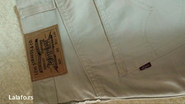 Levis krem pantalone, nove, struk 80cm, dužina 110cm - Velika Plana