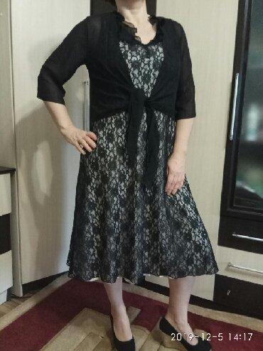 длинные платья из турции в Кыргызстан: Вечернее, гипюровое платье. Одевали 2 раза, размер 46-48.Длина ниже ко