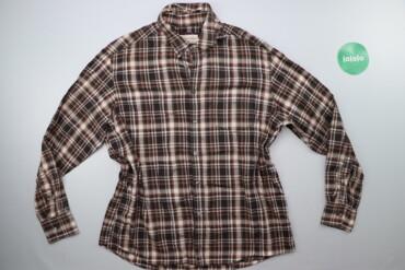 Чоловіча сорочка в клітинку MARKS & SPENCER, р. L   Довжина: 74 см