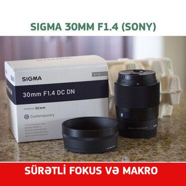 filter - Azərbaycan: Sigma 30mm f1.4 Sony E mount Sony E-mount üçün 30 mm f 1.4 modeli əsas