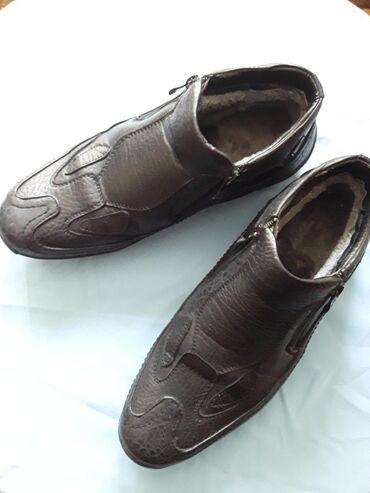 Зимние ботинки с мехом,пару раз надевались