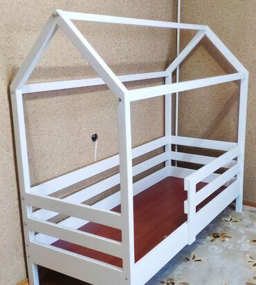 Детский мир - Кара-Балта: Детская кровать. Кровать. Кроватка-домик. Кровать из дерева. Детская