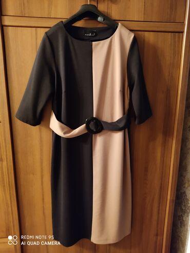 женское платье турция в Кыргызстан: Платье женское, б/у, трикотаж, Турция, размер турецкий 46, наш размер