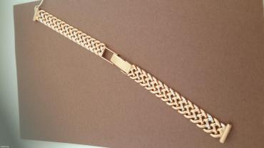 часы hublot механика в Кыргызстан: Браслет из красного золота 585 проба. для часов. длинна 17 см