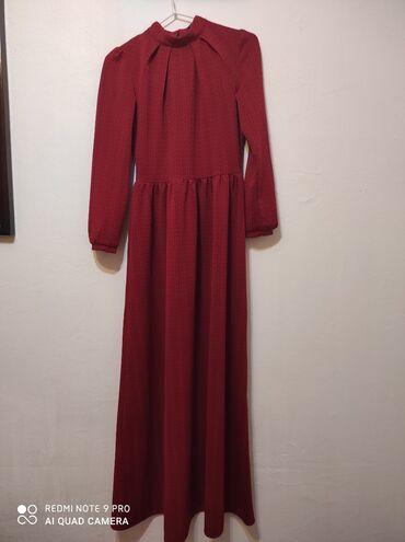 длинное вечернее платье цвет марсала в Кыргызстан: Продаю безумно красивое платье бордового цвета длинное 38 размер