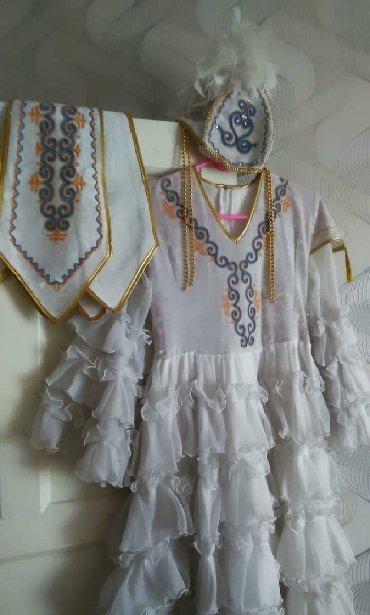 шью на заказ платье в Кыргызстан: Национальное платье с поясом и головным убором шили на заказ . Отдам