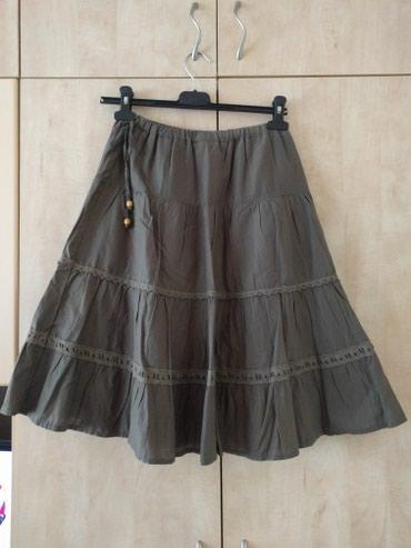 Pamučna suknja S - M velučine u struku guma, sa podstavom  dužina - Palic