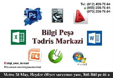 Ofis proqramlari 3 ayliq kursdu. Windows, Word, Excel, Power Point