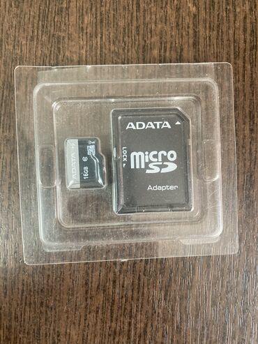карты памяти sd для телефонов в Кыргызстан: ADATA SD Card 16gb, почти новая, оригинальная