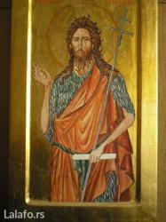 Ikona sv. Jovan. Naslikana na lipovoj dasci sa prirodnim pigmentima i - Bajina Basta