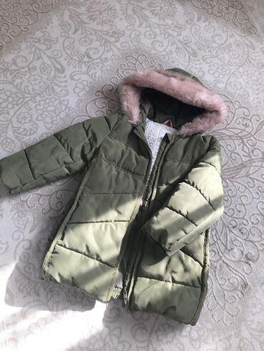 Зимняя куртка, Next оригинал. Цвет хаки. Размер 3-4 года