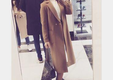 альпака пальто цена в Кыргызстан: Пальто бежевого цвета,размер л, демисезонное,состояние 9 из 10 имеется