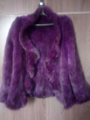 Норка вязанная шикарно смотреться покупали в Турции размер 44 46 цвет