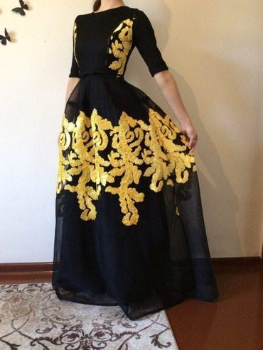 Платье в пол, расшитое лентой,очень красивое. р.42-44 в Токмак
