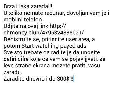 Brza i laka zarada!!! Ukoliko nemate racunar, dovoljan vam je i mobiln - Beograd