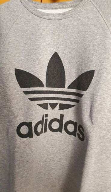 Adidas - Ελλαδα: Μπλούζα φούτερ χωρις κουκούλα χρωμα Γκρι original Adidas. νουμερο S/