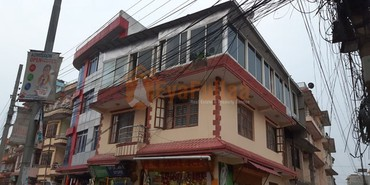 A commercial flat system house having land area 0-4-0-0 of 3 floors, in Kathmandu