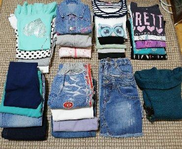Kratkih rukava - Srbija: Paket odeće za devojcice vel. 8. Po nešto je veće. U paketu ima 5