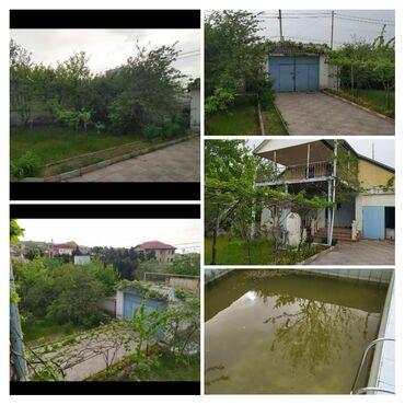 evlərin alqı-satqısı - Biləsuvar: Novxanida prezdent aparati baglari terefde 9sot icerisinde evi hovuzu