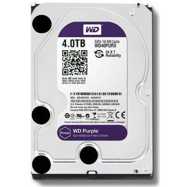 Электроника - Бишкек: HDD WD Purple 4TB x3(с гарантийным талоном)  Toshiba 4GB x1 (HDWT140)