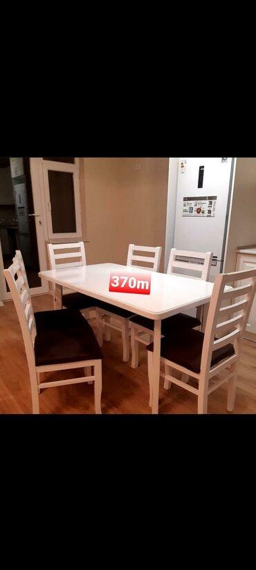 - Azərbaycan: Masa desti 370manat 6 eded stulla upakofqadadir.unvana catdırılma