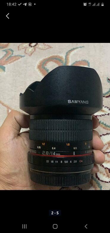 Срочно Продаю широкоугольный объектив 14mm Samyang f 2.8. Состояние