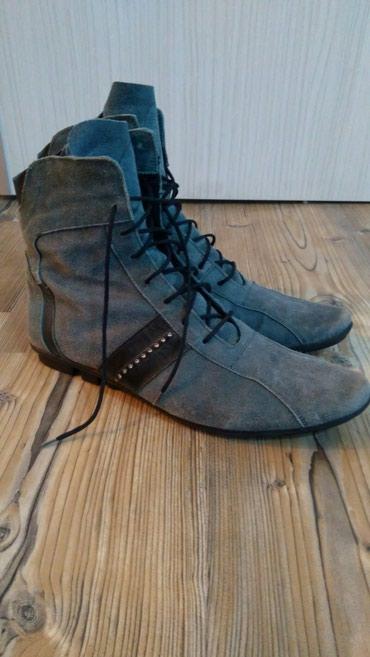 Zenske cizme, vel 39, velur, slabo koristene, stajale u kutiji... - Sremska Kamenica