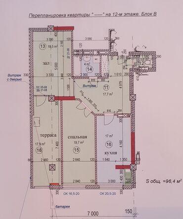 Продается квартира: 3 комнаты, 96 кв. м