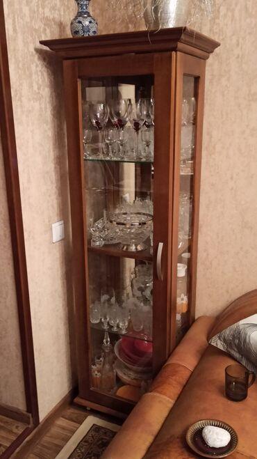 шкаф для посуды в Кыргызстан: Свечка шкаф для хранения посуды /коллекционеров. Чистое дерево, брали
