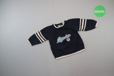 6126 объявлений | ДЕТСКИЙ МИР: Дитячий в'язаний светр з нашивкою Topolino, зріст 74 см.   Довжина: 30