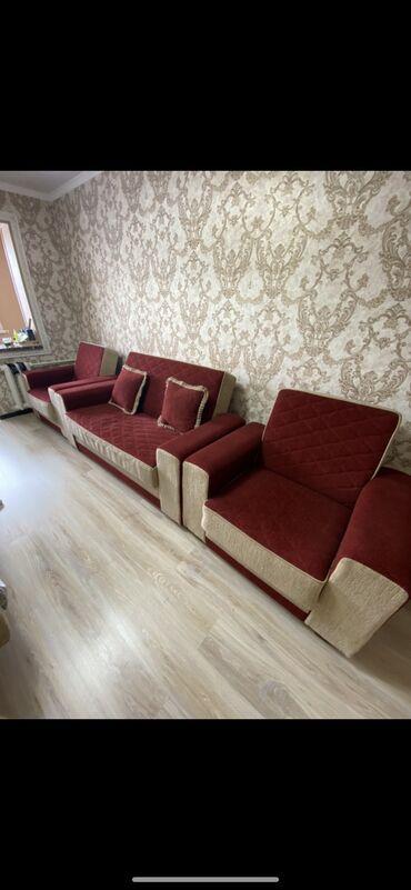 биндеры profi office для дома в Кыргызстан: Продаётся диван 3ка (диван раскладной+2 кресла). Отличного качества, в