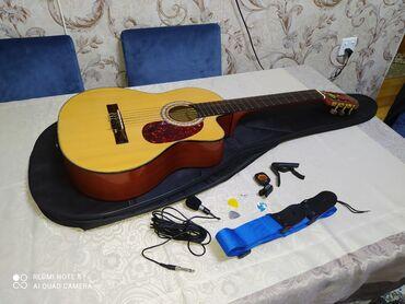 Classic gitara Masterwork professional satiram ustunde canta+ kemer +