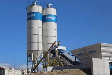 Тип установки: мобильный бетонный завод (двухвальный