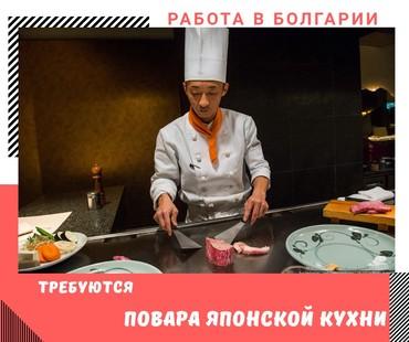 Работа повар японской (азиатской) кухни в Болгарию.Опыт работы от 1-2