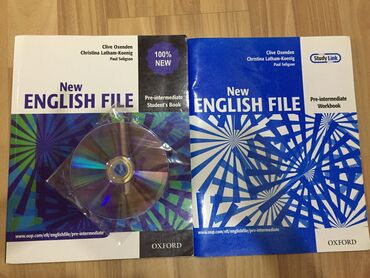pocket book - Azərbaycan: New English File Pre-Intermediate Student book+CD 4 azn  Workbook 3 az