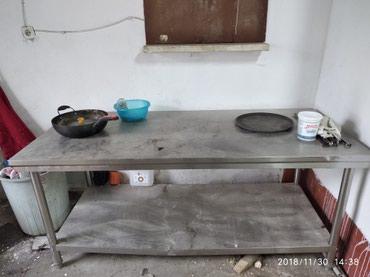 Срочно Стол нержовейка для кухни  кафе в Бишкек