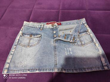 Suknja duzina - Srbija: Teksas suknja, velicinaS Duzina 32 Struk 38 Poluobim kukova 40