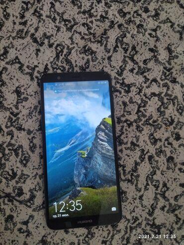 Электроника - Пригородное: Huawei P Smart | 32 ГБ | Синий Б/у | Трещины, царапины, Сенсорный, Отпечаток пальца