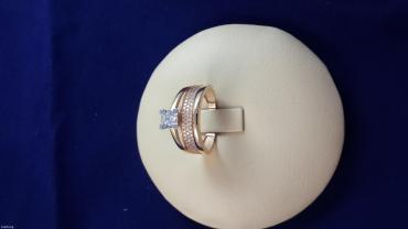 Кольцо из красного золота 585 проба размер 17. 0 в Бишкек