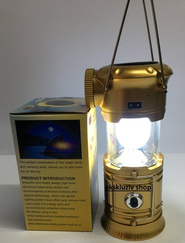 Solarna kamp led lampa - reflektor sa bluetooth zvucnikom - Belgrade