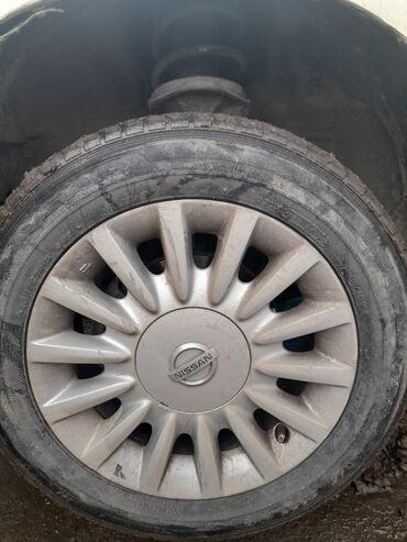 Титан диски от Ниссана 195/65/15+шины очень срочно!!! Срочная цена