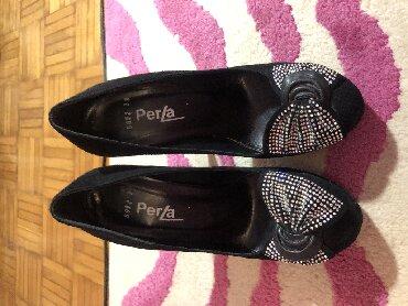 Crne cipele sa masnom od cirkona. velicina 38 - Kragujevac