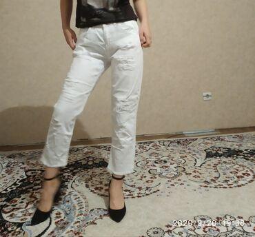 Продаются белые рваные джинсы Фирма:koton Размер:27